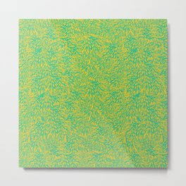 feathered leaves (green) Metal Print