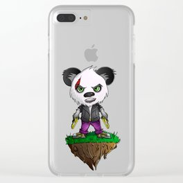 Gangsta Bear Clear iPhone Case