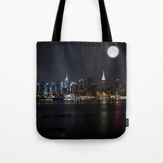 New York Supermoon Tote Bag