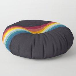 Retro Rainbow Floor Pillow