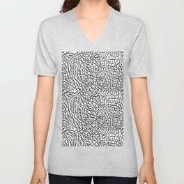 Elephant Print Pattern Unisex V-Neck