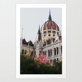 Budapest parliament / Europe / Art deco architecture Art Print