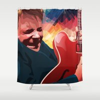 marty mcfly Shower Curtains featuring Marty McFly by Stephanie Keir