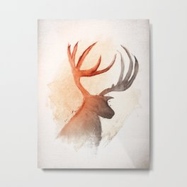 Sunlight Deer Metal Print