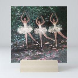 Ballerinas in the Park Mini Art Print