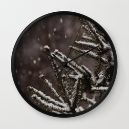 Snow Upon the Branches (Color) Wall Clock