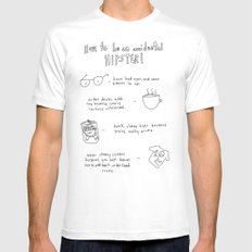 How to be an accidental hipster MEDIUM White Mens Fitted Tee