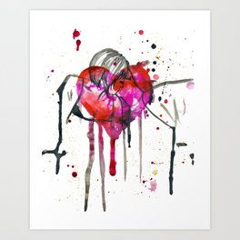 the kiss 2 Art Print