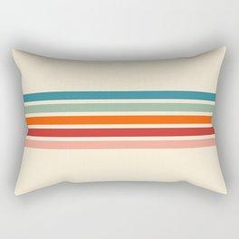 Minimal Abstract Retro Stripes 70s Style - Balangan Rectangular Pillow