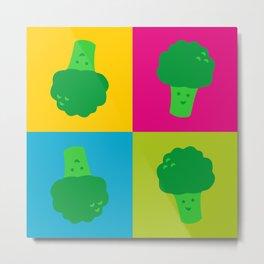 Popart Broccoli Metal Print