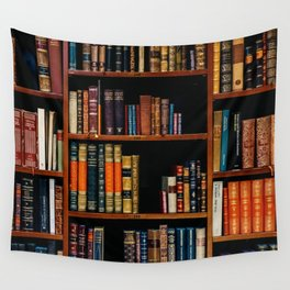 The Bookshelf (Color) Wall Tapestry