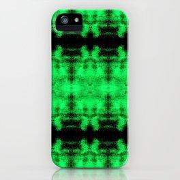 Green Black Diamond Gothic Pattern iPhone Case