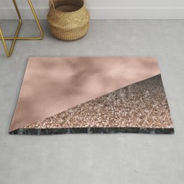Rose gold fancy marble mix Rug