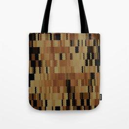 Brown Khaki Tan Brown and Black Digi Fractal Tote Bag