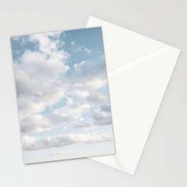 White Clouds   Classic Blue Stationery Cards
