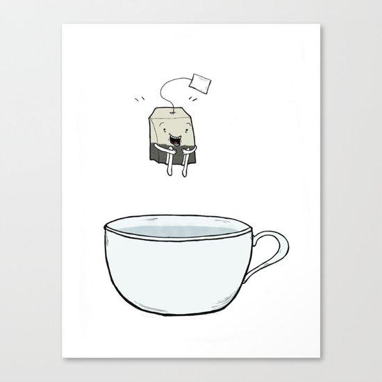 Happy Tea Canvas Print