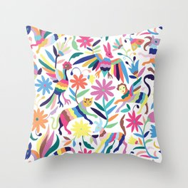 Creatures Otomi Throw Pillow