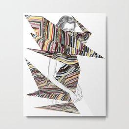 Origami Girl Metal Print
