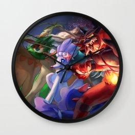Alolan starters Decidueye, Primarina, Incineroar Wall Clock