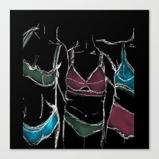 3  women  3 bodies - Negative  Canvas Print
