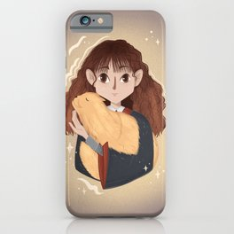 Witch with a cat iPhone Case