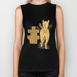 My Therapist Has A Wagging Tail | Dog Owner Biker Tank