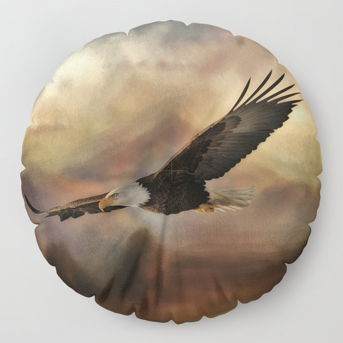 Eagle Flying Free Floor Pillow