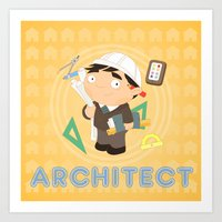 architect Art Prints featuring Architect by Alapapaju