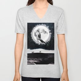 Between two worlds by GEN Z Unisex V-Neck
