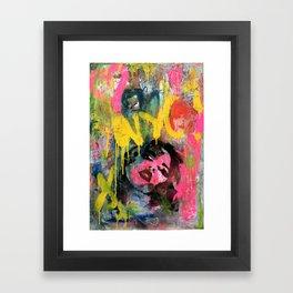 NYC GRAFFITI WALL II Framed Art Print