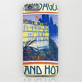 1905 Grand Hotel Isole di Brissago Ticino, Switzerland Advertisement Poster iPhone Case