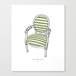 Striped Chair Print Canvas Print