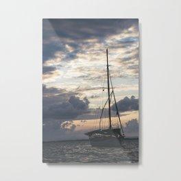 Ship Silhouette Metal Print