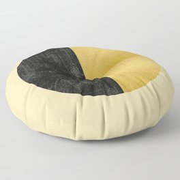 Black and Gold Circle 03 Floor Pillow