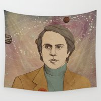 sagan Wall Tapestries featuring Billions upon billions by Heather Brennan