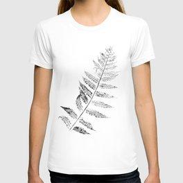 Fern Leaf Black Print on Paper  T-shirt