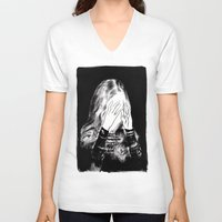 sarah paulson V-neck T-shirts featuring Sarah by Taylor Wessling
