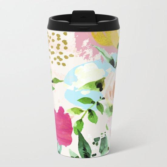 Floral Blush #society6 #decor #buyart Metal Travel Mug