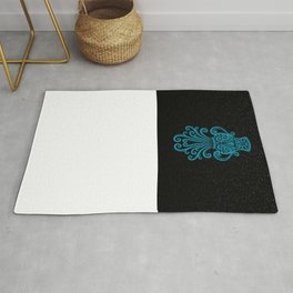 Blue Aquarius Zodiac Sign in the Stars Rug