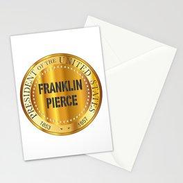 Franklin Pierce Gold Metal Stamp Stationery Cards