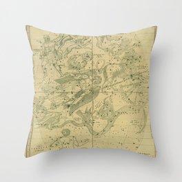 Antique Celestial Map June May April Throw Pillow