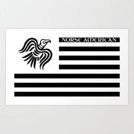 Norse American Art Print