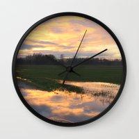 mirror Wall Clocks featuring Mirror by friz sala