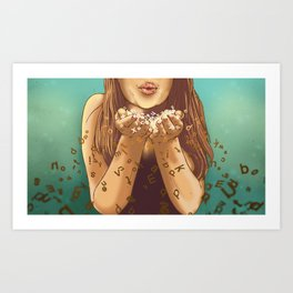 Miss Apprehension Art Print