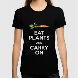 Eat Plant and Carry On Ultra Violet Background T-shirt