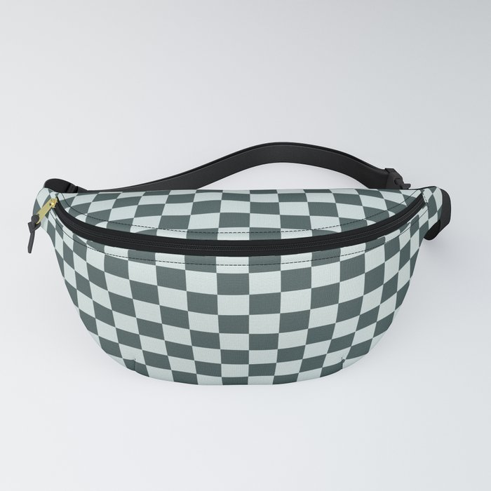 Checkerboard Pattern Inspired By Night Watch PPG1145-7 & Cave Pearl PPG1145-3 Fanny Pack