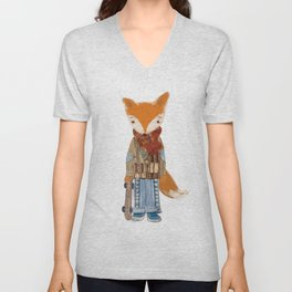 Fox Boy Unisex V-Neck