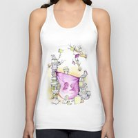 literary Tank Tops featuring Literary Fort by Genevieve Santos