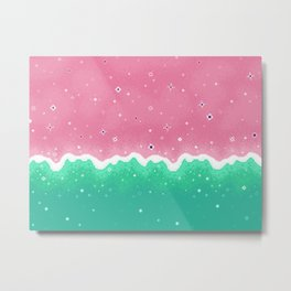 Summer Sweets: Watermelon Galaxy Metal Print