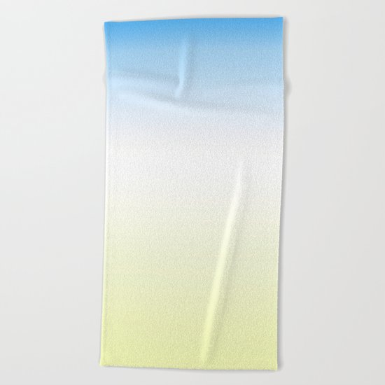 Blue White Yellow Gradient Beach Towel